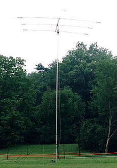 Beam antenna for special events station at 2003 championships